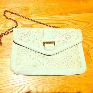Aldo Mint Green Clutch Chain Purse